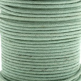 Cotton Cord - 1mm Round Waxed - Sea Green (25m)