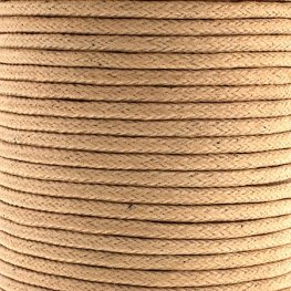 Cotton Cord - 1.5mm Round Waxed - Natural (25m)