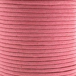 Cotton Cord - 1.5mm Round Waxed - Neon Pink (25m)