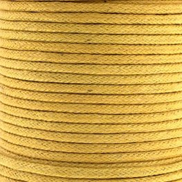 Cotton Cord - 1.5mm Round Waxed - Lemon (25m)
