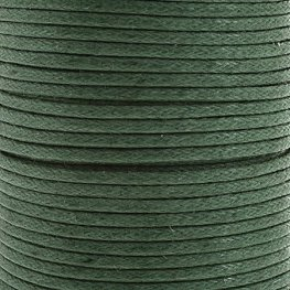Cotton Cord - 1.5mm Round Waxed - Light Emerald (25m)
