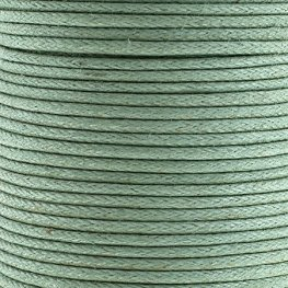 Cotton Cord - 1.5mm Round Waxed - Sea Green (25m)
