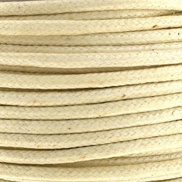 Cotton Cord - 2mm Round Waxed - Ivory (25m)