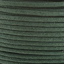 Cotton Cord - 2mm Round Waxed - Light Emerald (25m)