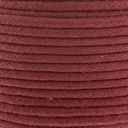 Cotton Cord - 2mm Round Waxed - Italian Red (25m)