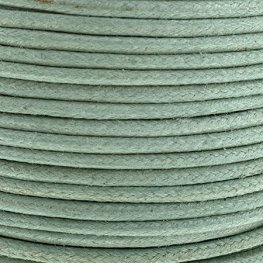 Cotton Cord - 2mm Round Waxed - Sea Green (25m)