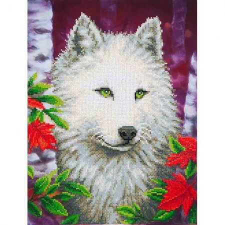 Diamond Dotz - 14x18in Wall Art Intermediate Kit - White Wolf