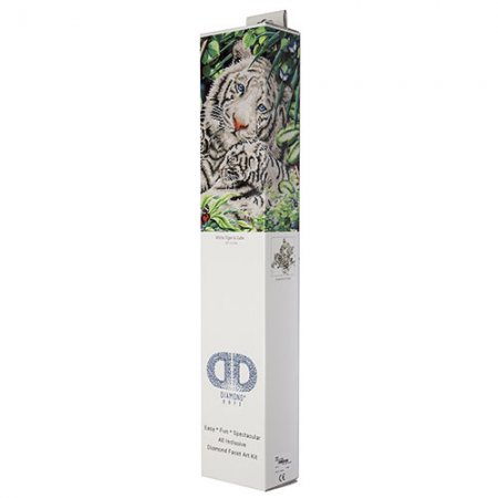 Diamond Dotz - 20.5x16.5in Wall Art Advanced Kit - White Tiger and Cubs