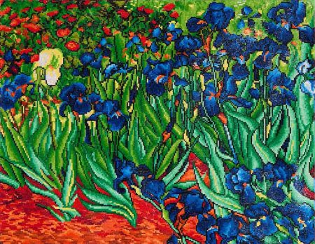 Diamond Dotz - 22x28in Wall Art Advanced Kit - Irises (Van Gogh)