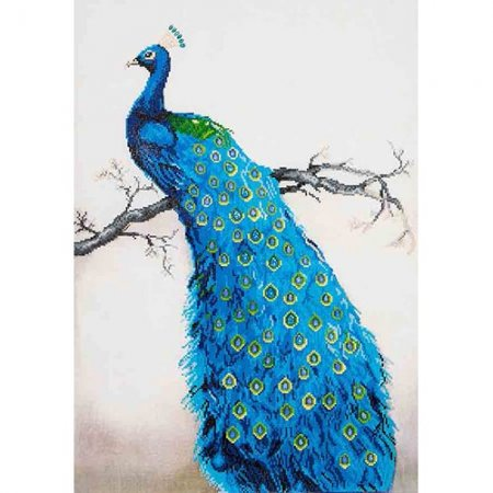Diamond Dotz - 22x28in Wall Art Advanced Kit - Blue Peacock