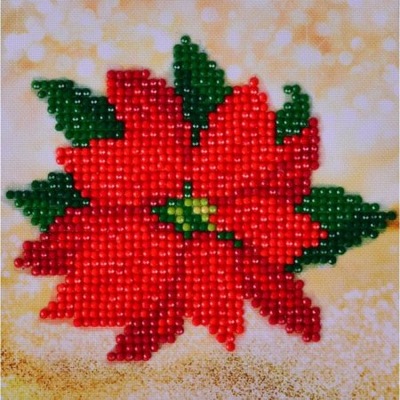 Diamond Dotz - 5.3x5.3in Beginner Kit - Poinsettia