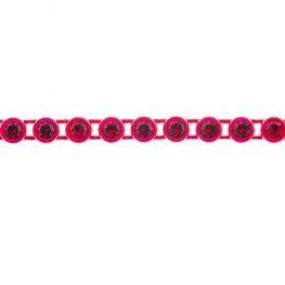 Preciosa - ss13 Rhinestone Trim - Red Casing/Light Siam (10 metres)