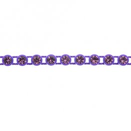 Preciosa - ss13 Rhinestone Trim - Purple Casing/Light Amethyst (10 metres)