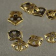 Bead Cap Square with Hearts 8mm - Antiqued Brass