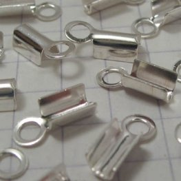 Fold Over Crimp Ends - - Sterling