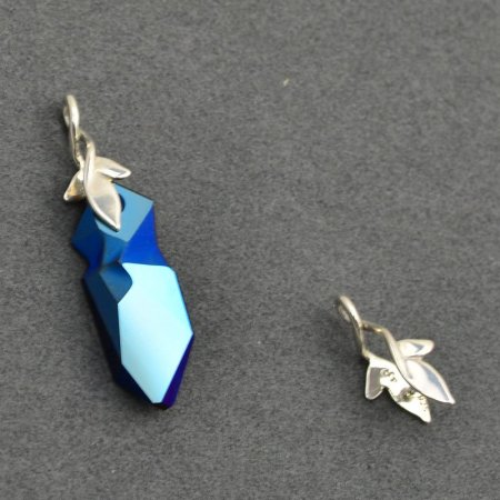 Pinch Bail - Two Leaf - Bright Sterling
