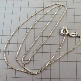 Sterling - Finished Chain - 16in Necklace - Box Chain - Sterling