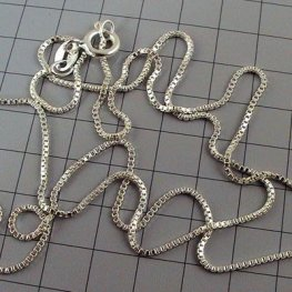 Sterling - Finished Chain - 18in Necklace - Box Chain - Sterling
