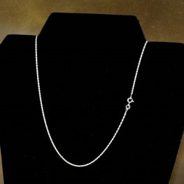 Sterling - Finished Chain - 16in Necklace - Fine Spiral Rope - Bright Sterling