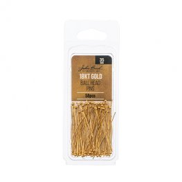 Headpins Ball 35mm / 24ga - 18kt Goldplated (Pack)