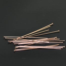 Headpins - 24ga / 0.5mm - 14 Kt Rose Gold-filled (10)