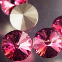 Swarovski Rhinestones - 12mm Rivoli Cut (1122) - Rose