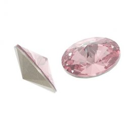 Swarovski Rhinestones - 12mm Rivoli Cut (1122) - Light Rose (6)