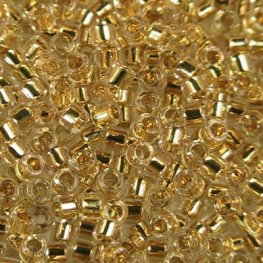 Delicas - 11/0 Japanese Cylinders - Crystal Gold 24kt Lined (50 g)
