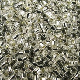 Delicas - 11/0 Japanese Cylinders - Cut - Silver Lined Crystal (7.5 g)