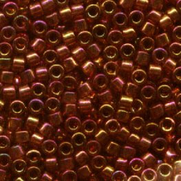 Delicas - 11/0 Japanese Cylinders - Gold Red Luster (50 g)