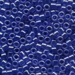 Delicas - 11/0 Japanese Cylinders - Lined Crystal/Medium Blue Lustre (50 g)