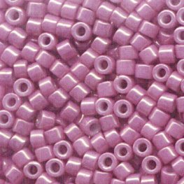 Delicas - 11/0 Japanese Cylinders - Pink Luster Opaque Mauve (50 g)