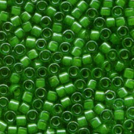 Delicas - 11/0 Japanese Cylinders - Lined Green/Lime (50 g)