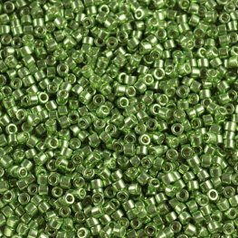 Delicas - 11/0 Japanese Cylinders - Galvanized Green Limes (50 g)