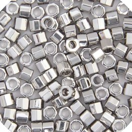 Delicas - 15/0 Japanese Cylinders - Cut - Palladium Plated (3.3 grams)