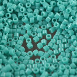 Delicas - 10/0 Japanese Cylinders - Opaque Turquoise Green (tube)