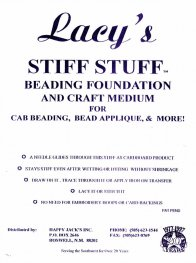 Beading Supplies - Lacy's Stiff Stuff - 4.25 x 5.5 inches