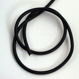 Stringing - 3mm Rubber Cord - Black (foot)