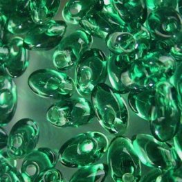 Miyuki - 4x7mm Long Magatamas - Transparent Green (tube)