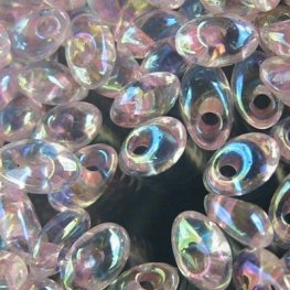 Miyuki - 4x7mm Long Magatamas - Pink Lined Crystal AB (tube)