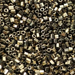 Japanese Seedbeads - 11/0 Miyuki Seedbeads - Cut - Metallic Dark Bronze