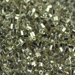 Japanese Seedbeads - 11/0 Miyuki Seedbeads - Cut - Bright Sterling Plated