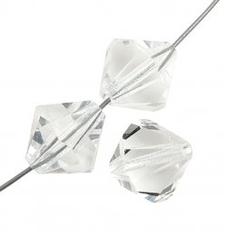 Preciosa Machine Cut Crystal - 3mm Faceted Bicone - Crystal (90)