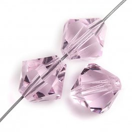 Preciosa Machine Cut Crystal - 4mm Faceted Bicone - Pink Sapphire (40)