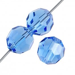 Preciosa Machine Cut Crystal - 3mm Faceted Round - Sapphire (40)