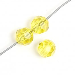 Preciosa Machine Cut Crystal - 4mm Faceted Round - Citrine (40)