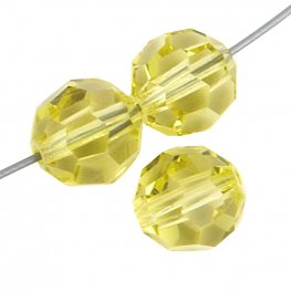 Preciosa Machine Cut Crystal - 4mm Faceted Round - Jonquil (40)