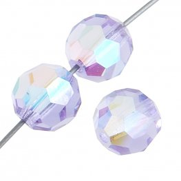 Preciosa Machine Cut Crystal - 4mm Faceted Round - Violet AB (40)