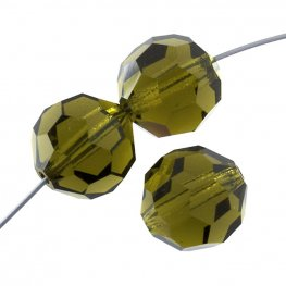 Preciosa Machine Cut Crystal - 5mm Faceted Round - Olivine (32)