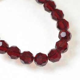 Preciosa Machine Cut Crystal - 5mm Faceted Round - Siam (32)